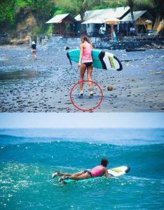 Surfing badass