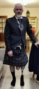 So my dad decides to rent a kilt….