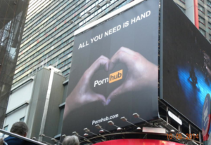 They put this on NY Times Square