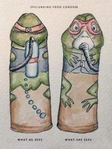 Spelunking Frog Condom